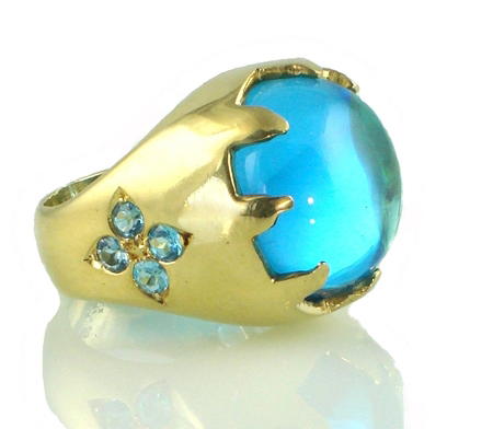 Ana Cavalheiro Blue Castle ring