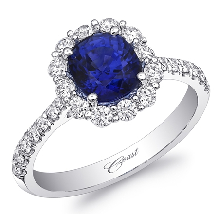 Coast Diamond sapphire and diamond ring