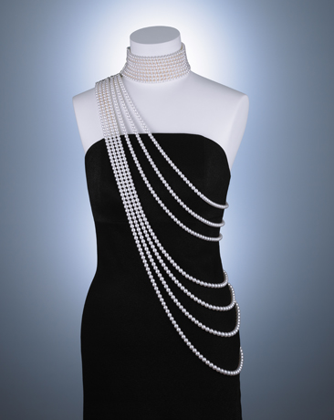 One-of-a-kind akoya pearl necklace from Mikimoto new at Baselworld 2012