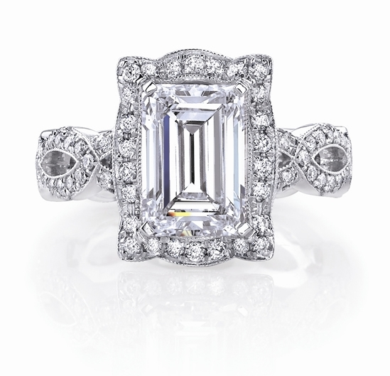 Katharine James emerald cut ring
