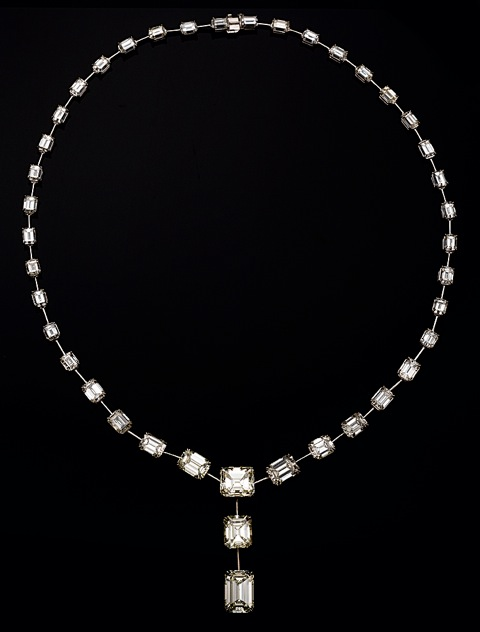 Emerald-cut diamond necklace from East Continental Gems