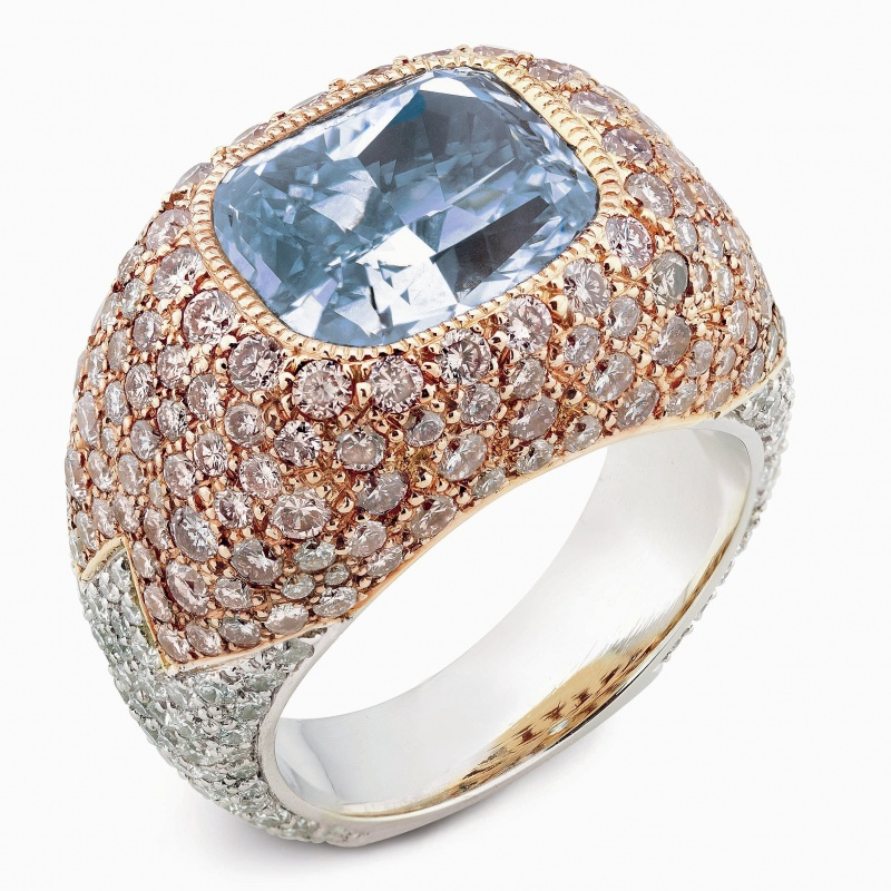 Goldstein Diamond's colored diamond ring