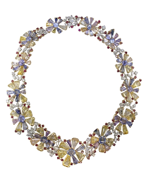Oscar Heyman floral necklace