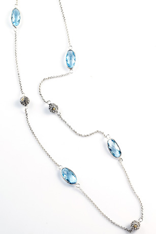 Cydonia blue topaz and silver necklace