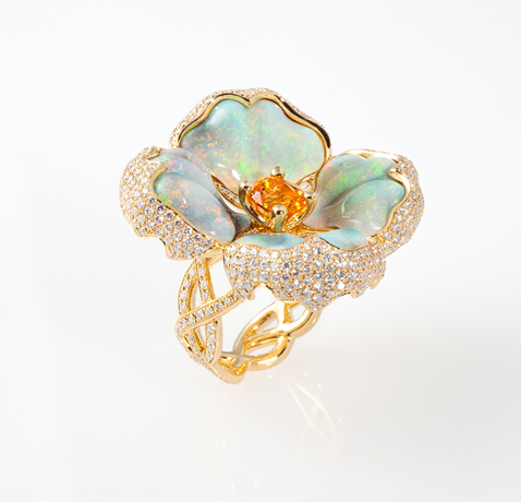 Katherine Jetter opal and gold ring