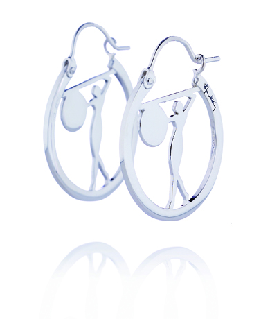 Diana Collection silver earrings from Efva Attling