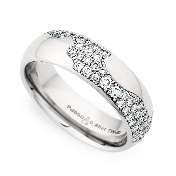 Christian Bauer palladium diamond band