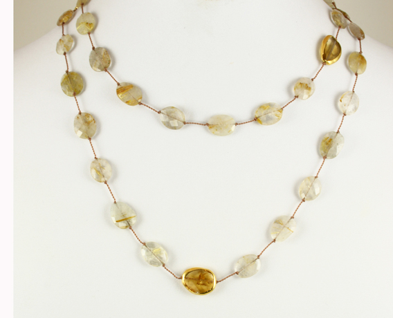 Margo Morrison rutilated quartz necklace