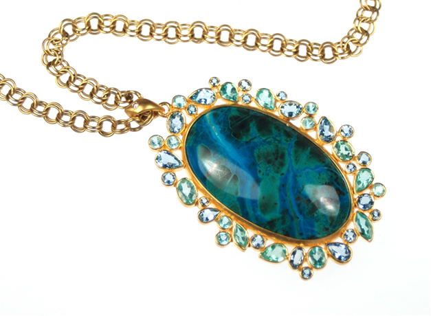 Lauren Harper gemstone and gold necklace