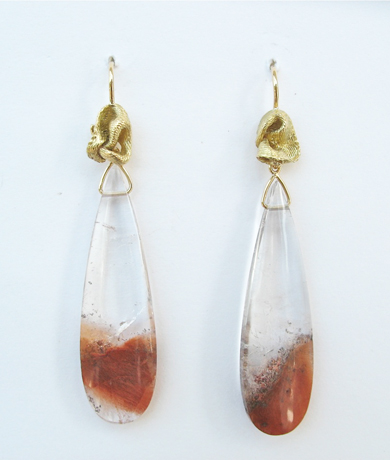 Mary Esses rutilated quartz earrings