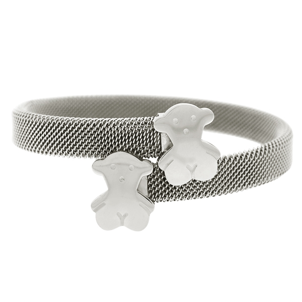 Sterling Forest teddy bear bypass bangle
