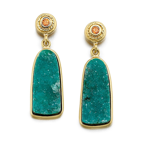 Mazza drusy drop earrings
