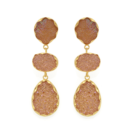 Coralia Leets drusy earrings