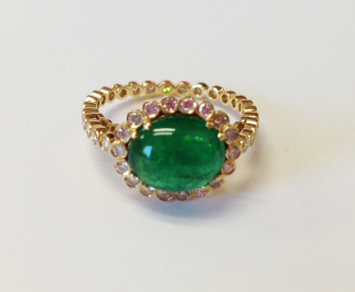 Erica Courtney emerald ring