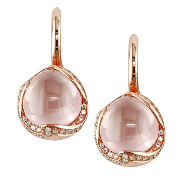 Eichhorn rose quartz drop earrings