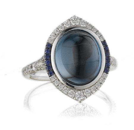 Christophe Danhier blue topaz Look ring