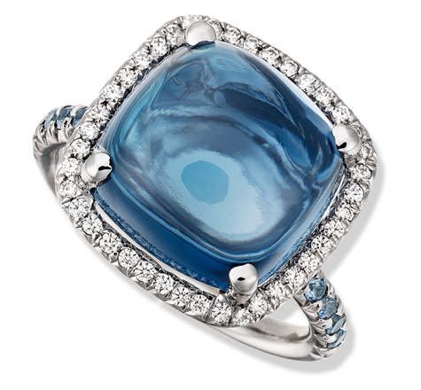 Jane Taylor London blue topaz cabochon ring