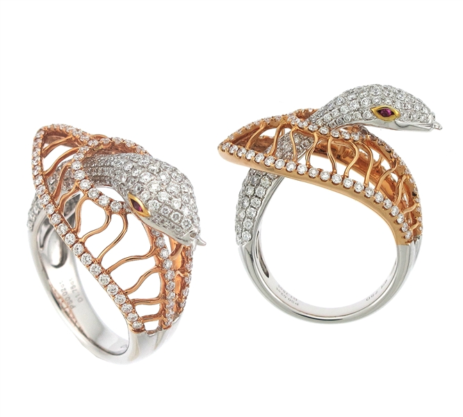 Supreme Jewelry diamond snake ring