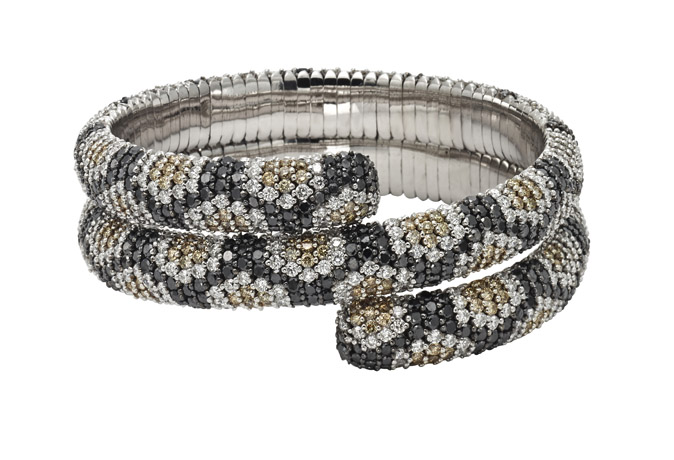 Roberto Demeglio for Beny Sofer snake bracelet with diamonds