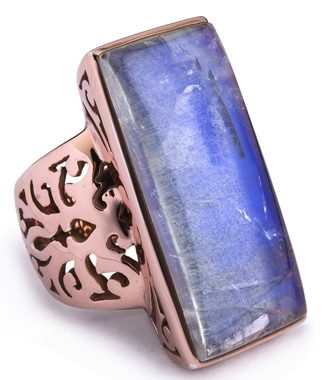 SNS Jewelry Studio rainbow moonstone ring