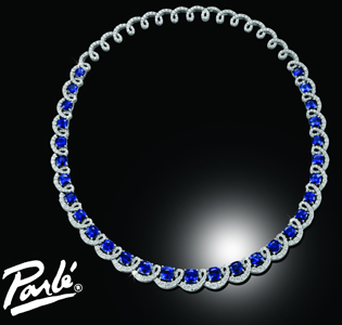 Parle Jewelry Designs Ceylon sapphire necklace