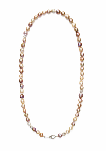 Susan Rockefeller pearl and silver necklace