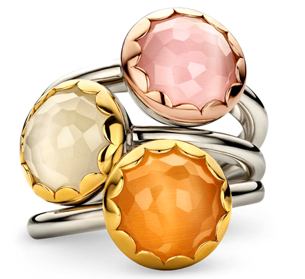 Ti Sento Milano cat's eye rings