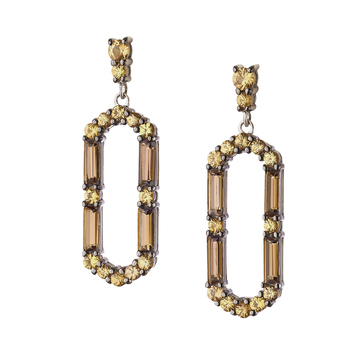 Monica Rich Kosann silver, topaz, and sapphire earrings