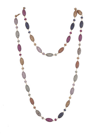Nigaam silver necklace with sapphires