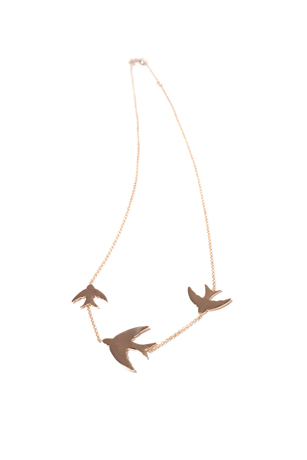 Kismet 14k rose gold Dove necklace