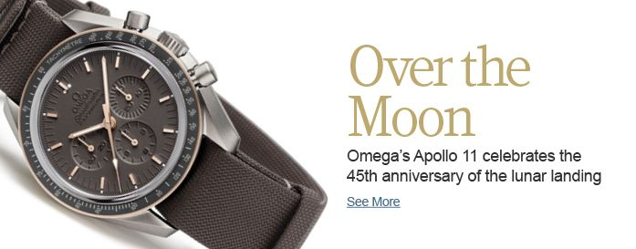 Omega's Apollo 11 celebrates the 45th anniversary of the lunar landing