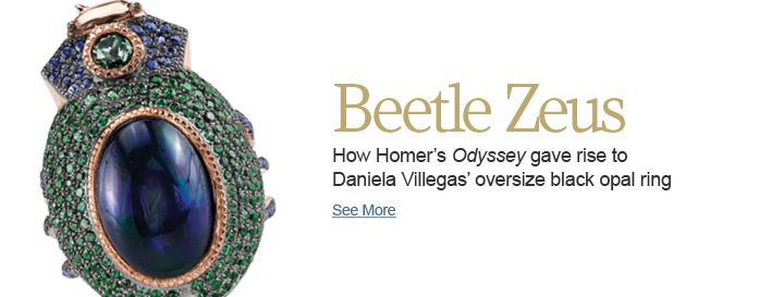 How Homer's Odyssey gave rise to Daniela Villegas' oversize black opal ring