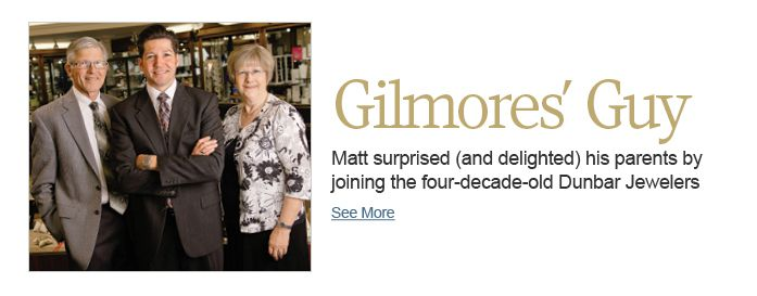 Matt surprised his parents by joining the four-decade-old Dunbar Jewelers