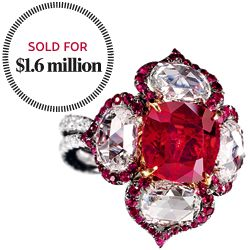 True Blood: Sotheby's Stunning $1.6 Million Burmese Ruby Ring