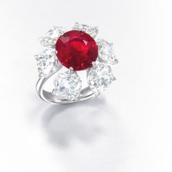 The Etcetera 6.04 ct. Burmese ruby ring.