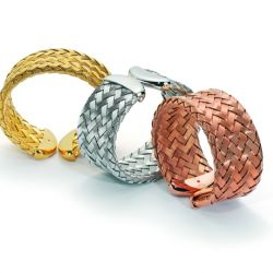 Silver and vermeil bracelets from Roberto Coin's The Fifth Season line