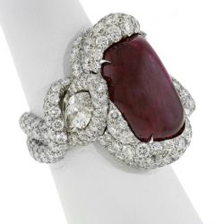 James Currens&amp;#039; Best of Show ruby, diamond, and platinum ring