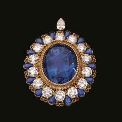 134 Carat Sapphire Brooch to Highlight Alexandre Reza Exhibit at Sotheby's