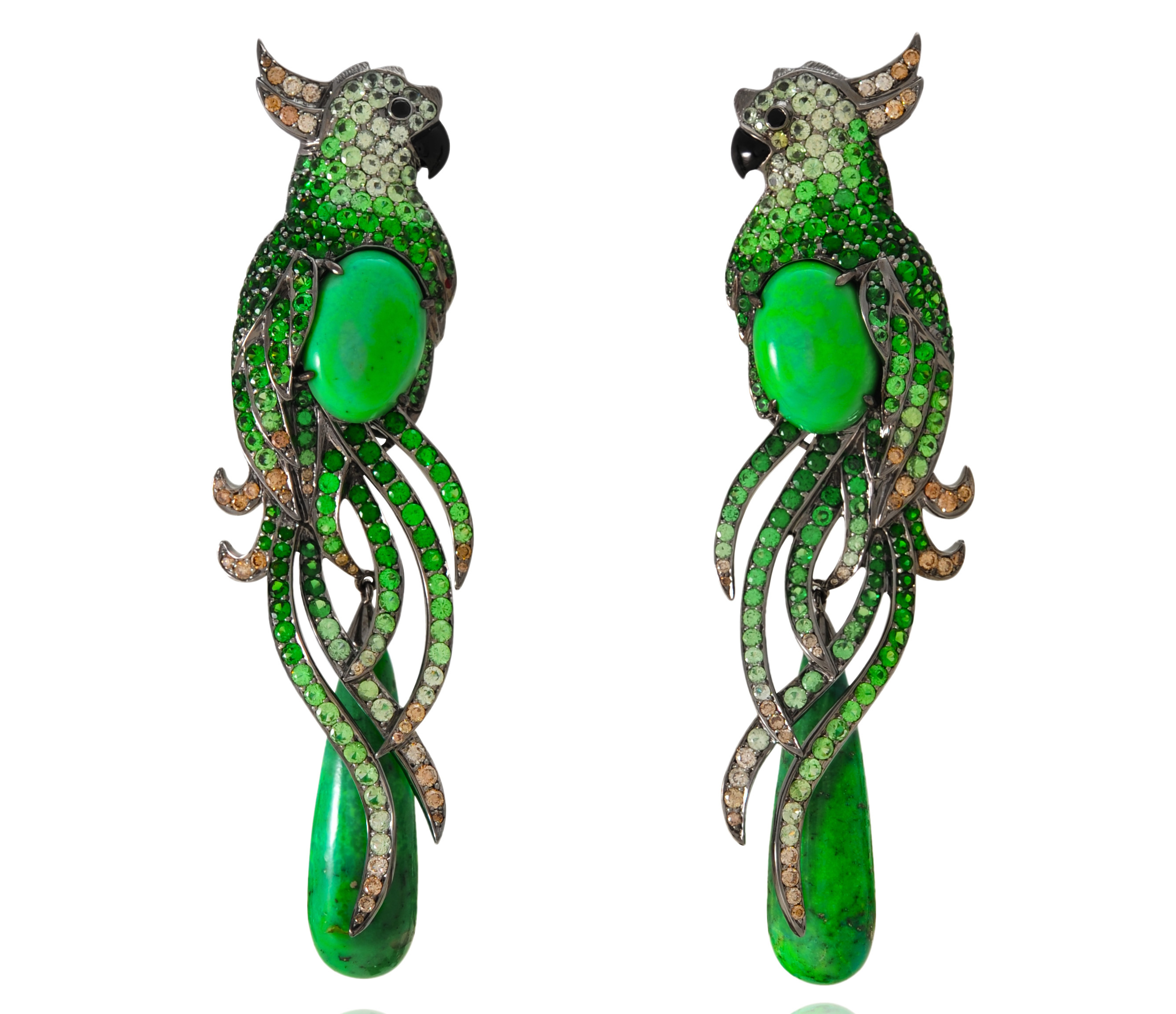 Lydia Courteille tropical bird earrings | JCK On Your Market