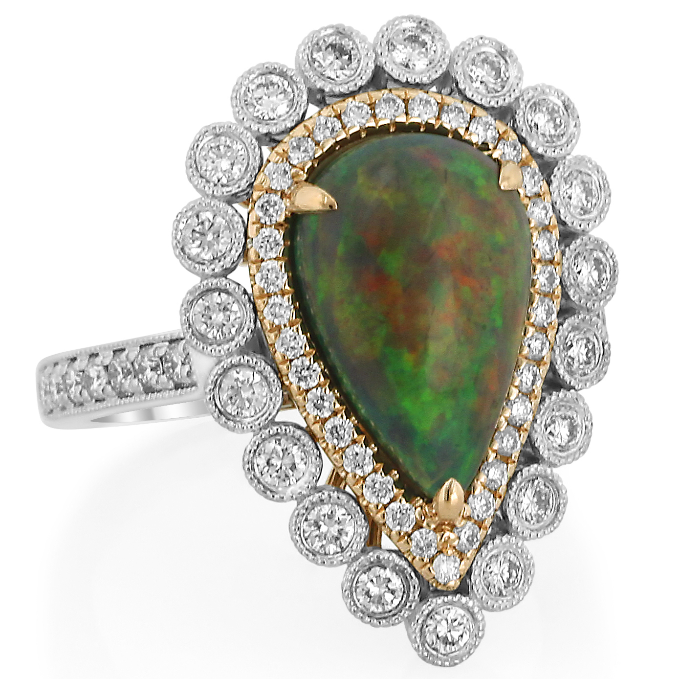 Yael Designs black opal and diamond ring | JCK On Your Market
