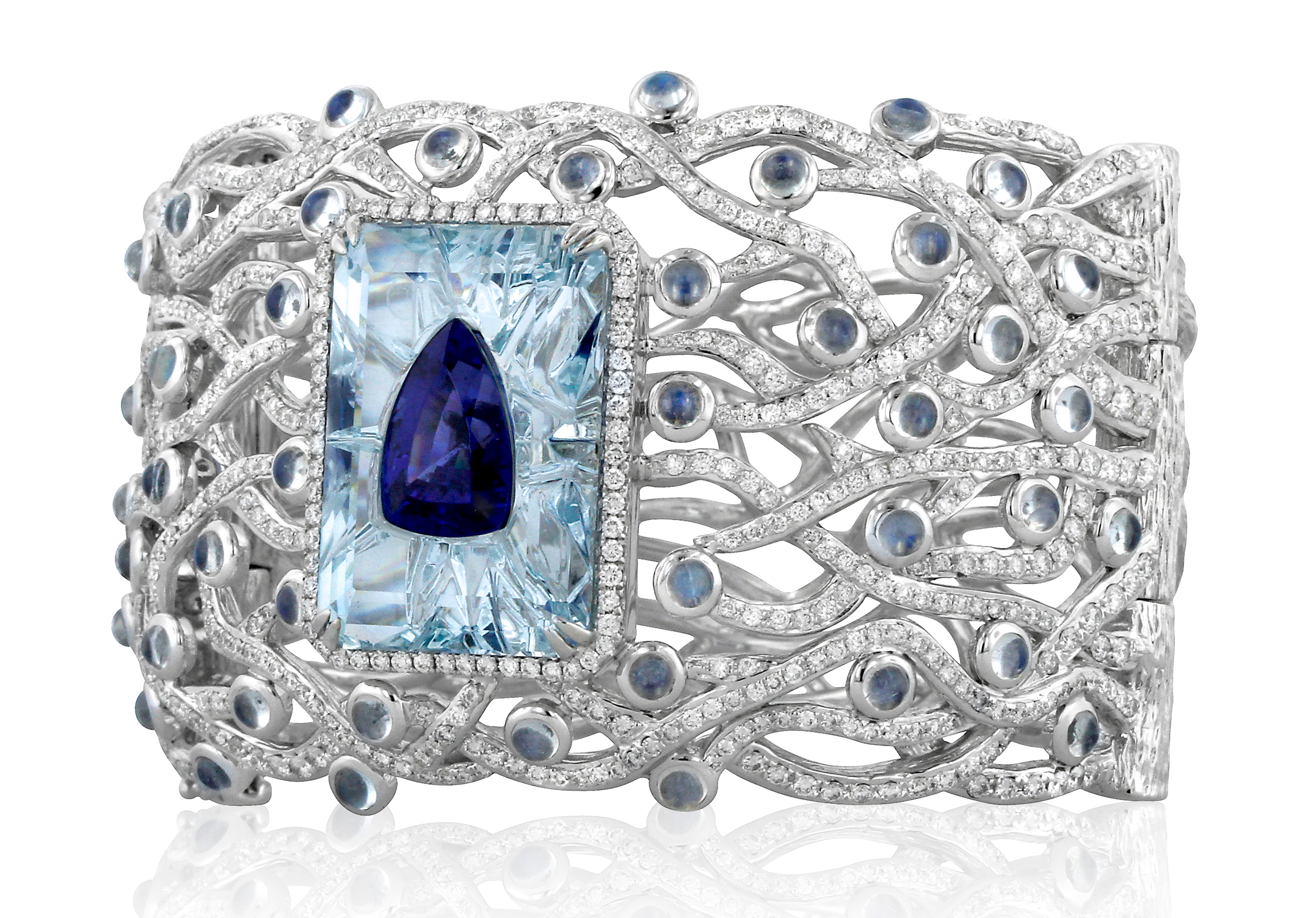 Yael Designs Sentience tanzanite and aquamarine bracelet | JCK On Your Market #BrittsPick
