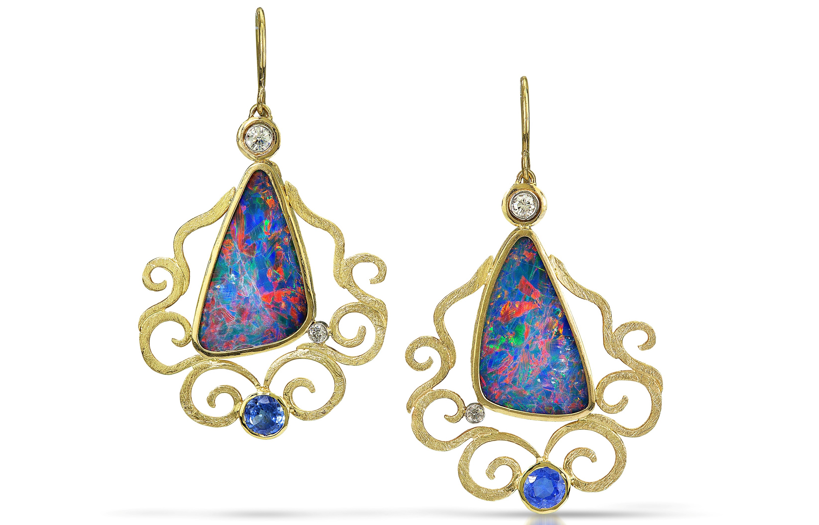 Alishan opal doublet drop earrings | JCK On Your Market
