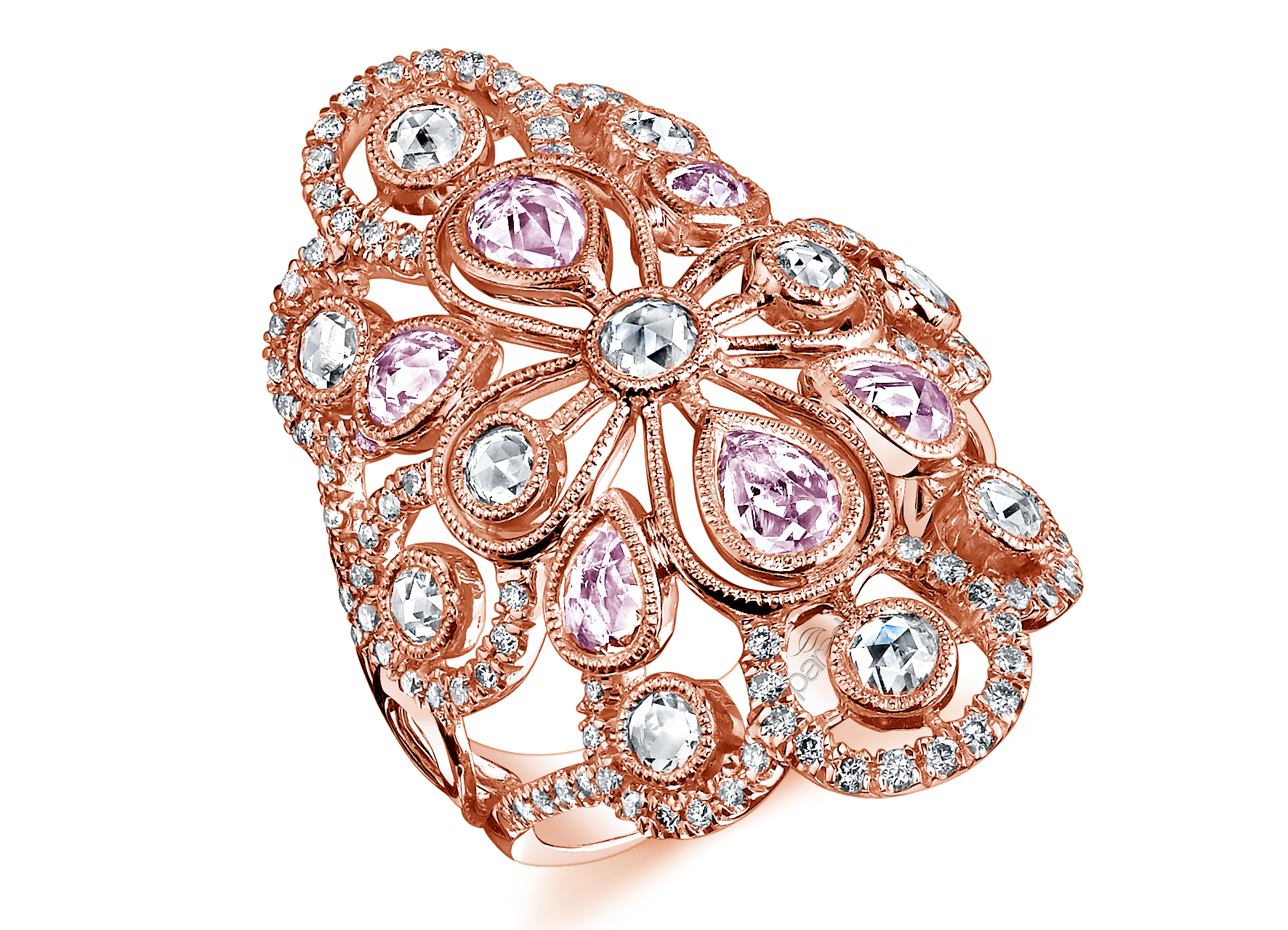 Parade Design pink sapphire and diamond burst ring | JCK On Your Market