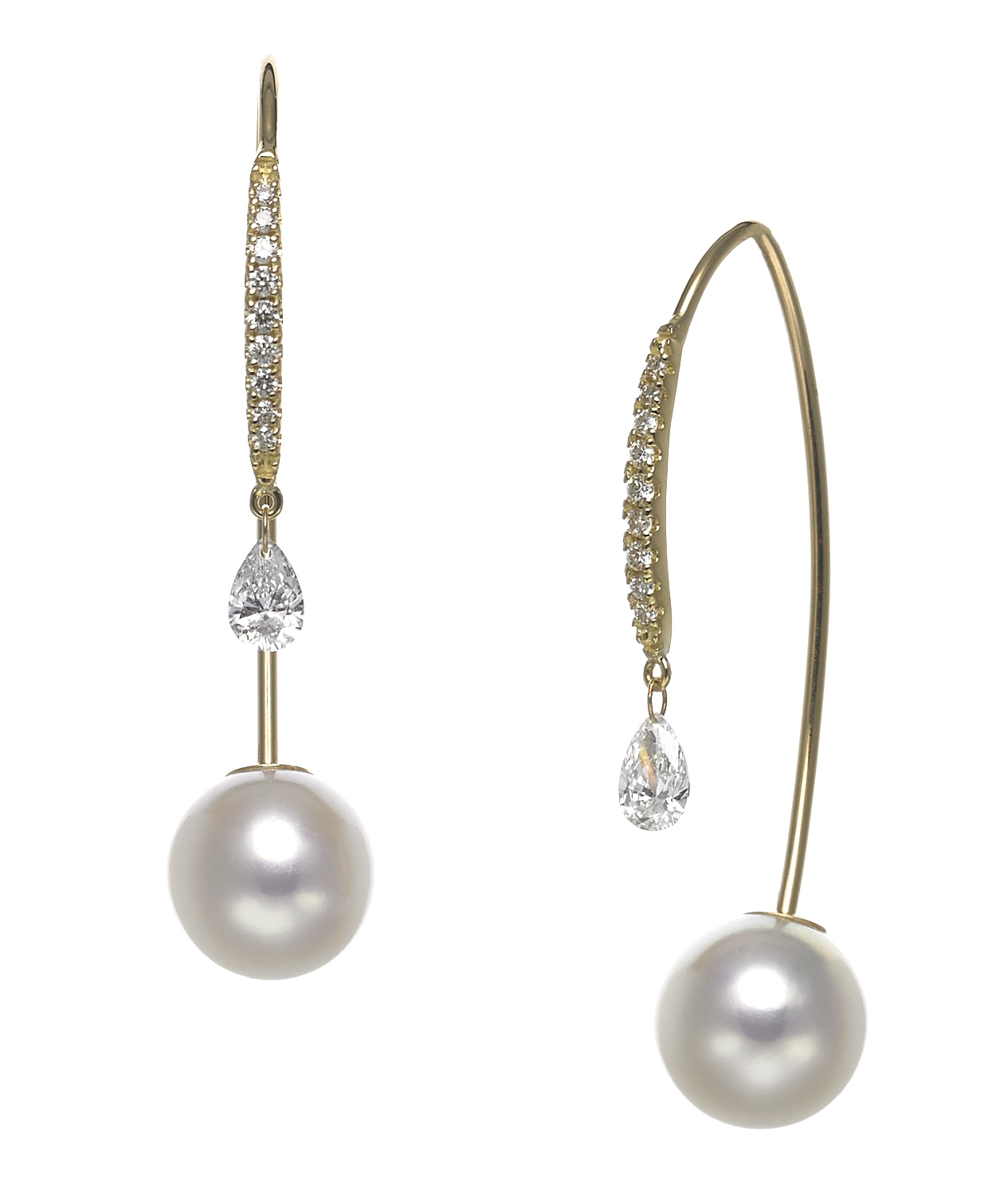 Baggins Akoya pearl and diamond earrings | JCK On Your Market