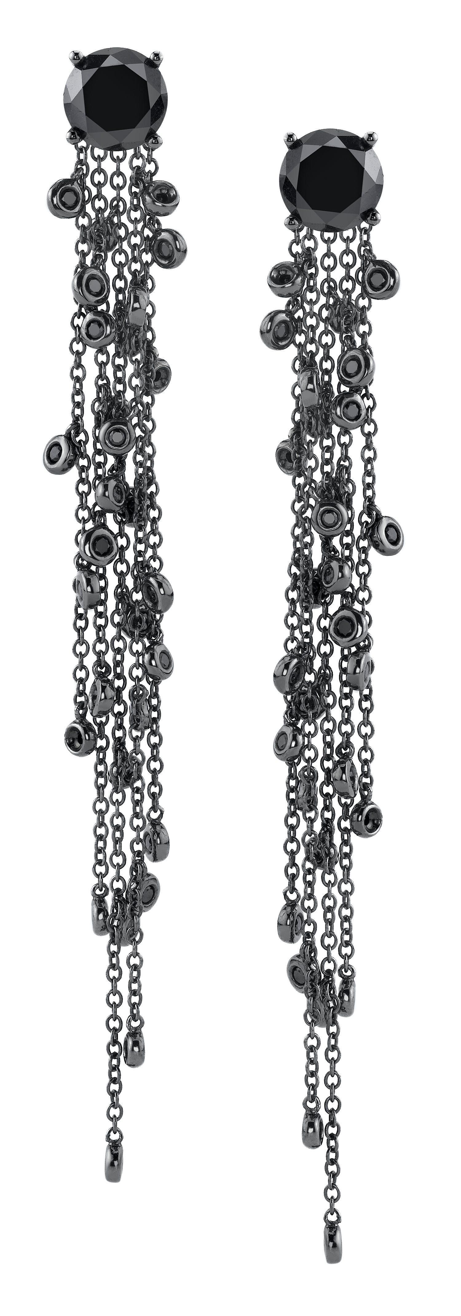Borgioni black diamond chandelier earrings | JCK On Your Market