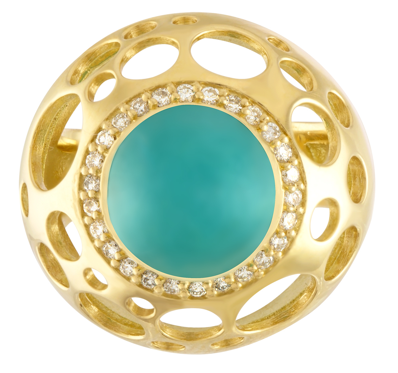 Dana Bronfman chrysocolla dome ring | JCK On Your Market