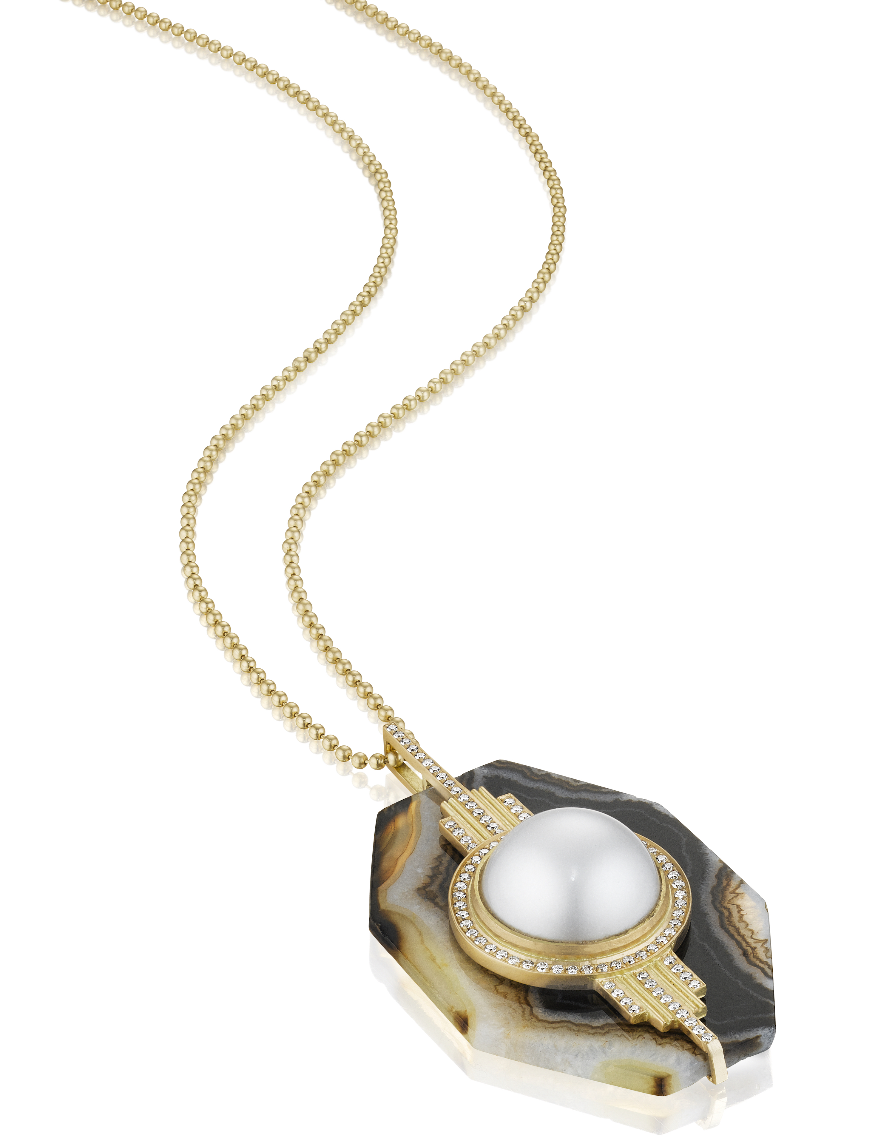 Doryn Wallach agate pendant with South Sea pearl | JCK On Your Market