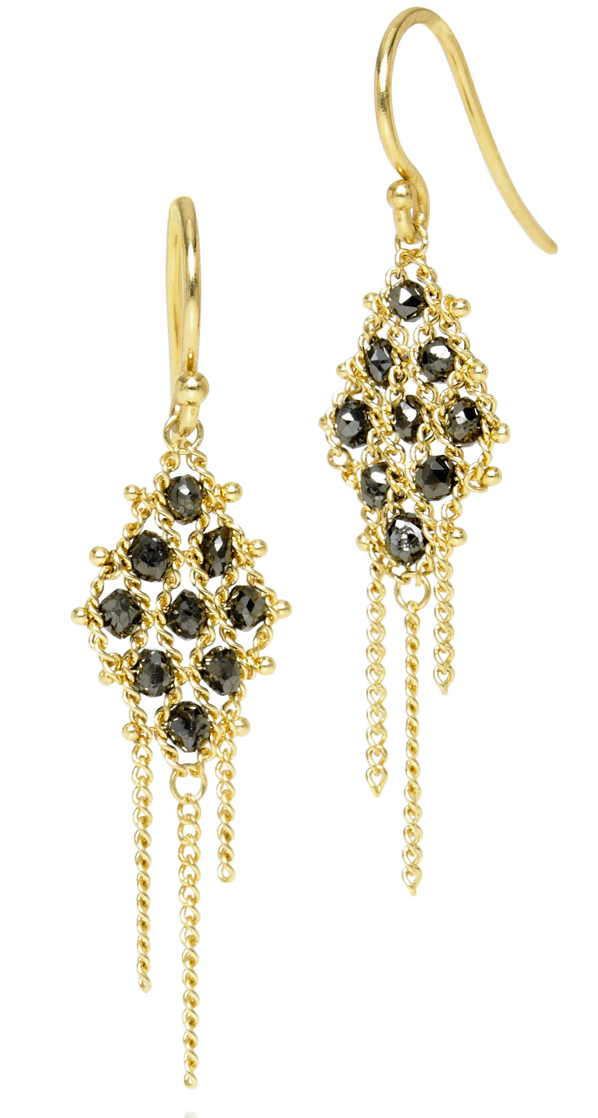 Amali Jewelry black diamond woven earrings | JCK On Your Market