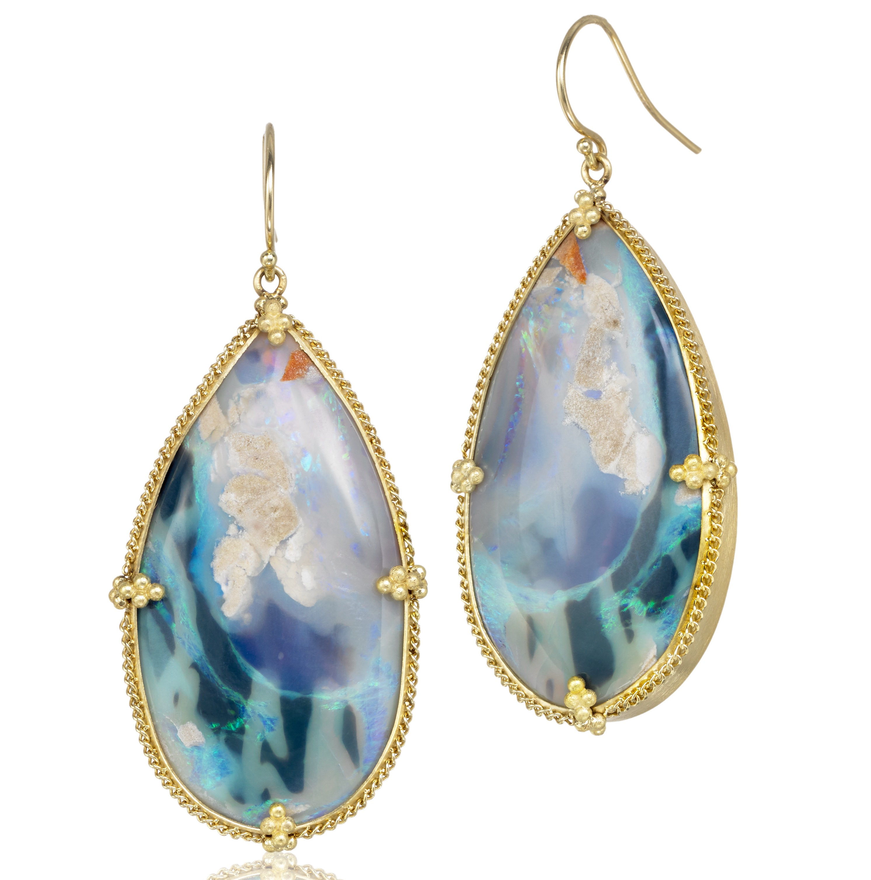 Amali Jewelry Australian opal drop earrings | JCK On Your Market