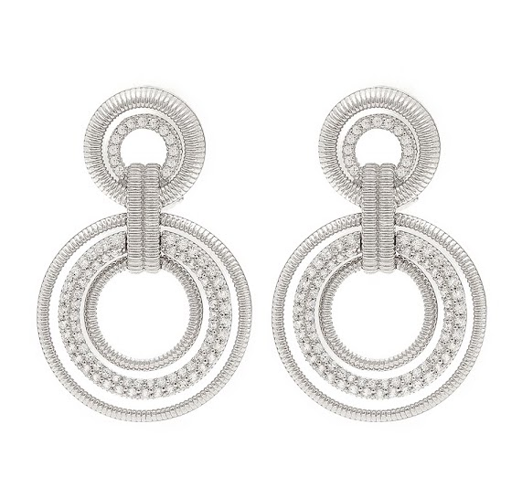 Judith Ripka Mercer doorknocker earrings | JCK On Your Market